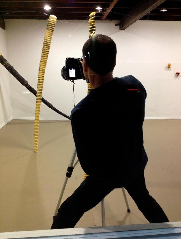 Philipp shooting Toms work