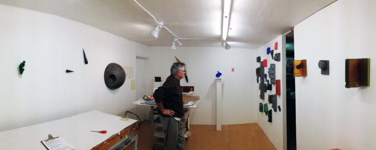 Tom Driscoll in his studio