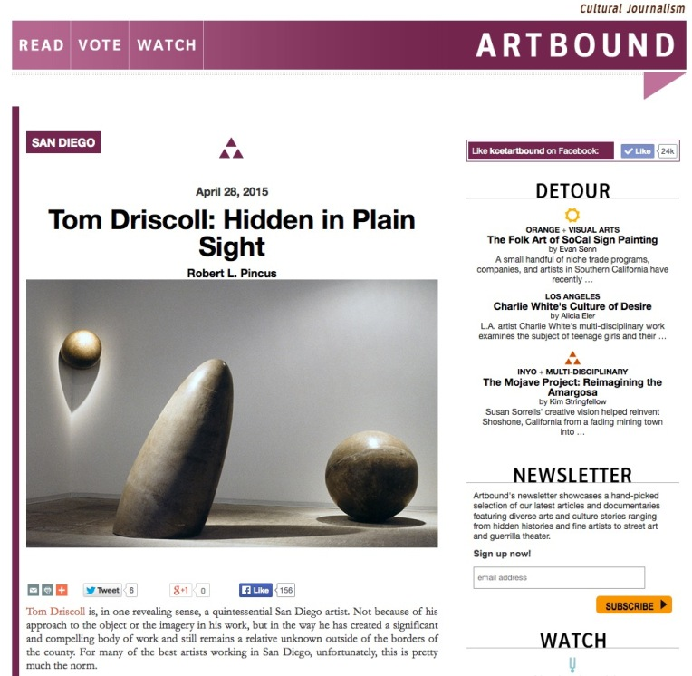 Tom Driscoll Artbound